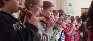 Children learn the flute from class one onward
